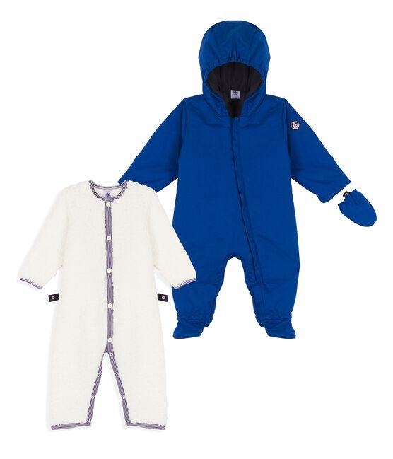 Tutina da pilota 3 in 1 bebè maschietto blu Limoges