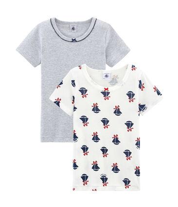 Duo t-shirt bambina maniche corte