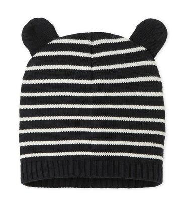 Cappellino per bebé maschio blu Smoking / bianco Marshmallow
