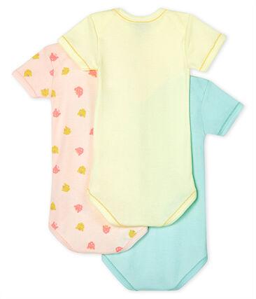 Confezione da 3 body manica corta pantera bebè femmina lotto .