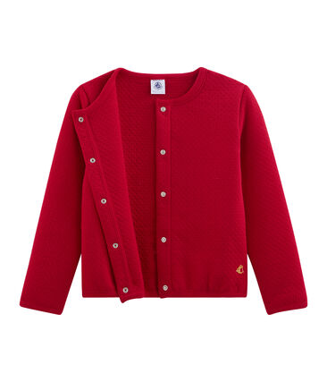 Cardigan bambina rosso Terkuit
