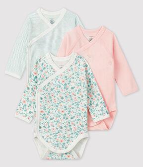 Confezione da 3 body nascita a maniche lunghe neonato lotto .