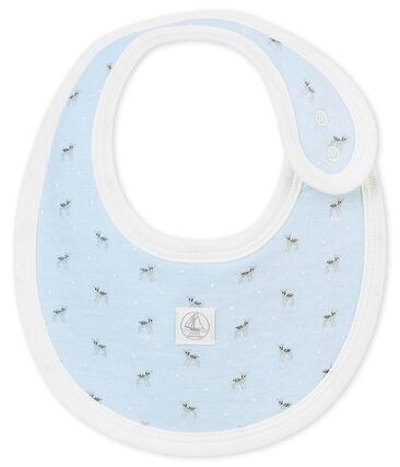 Bavaglino bebé unisex in tubique stampato blu Fraicheur / bianco Multico