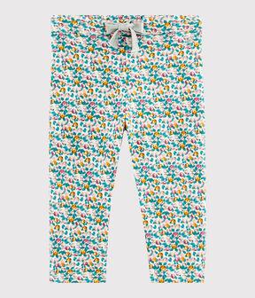 Pantalone bebè femmina bianco Marshmallow / bianco Multico
