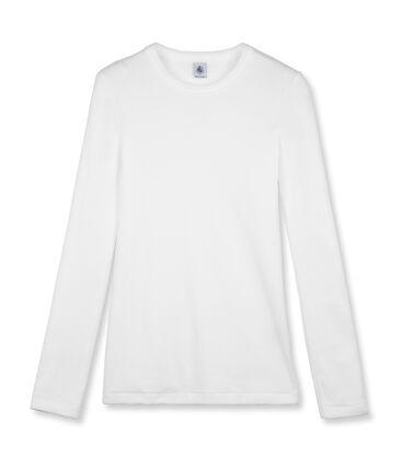T-shirt donna iconica girocollo maniche lunghe tinta unita