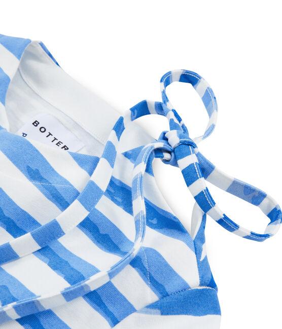 Marinière bianco Marshmallow / blu Bleu