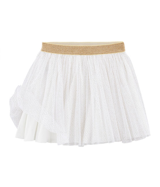 Gonna in tulle bambina bianco Marshmallow / giallo Or
