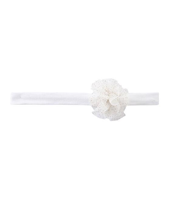 Fascia per capelli bambina a fiori bianco Marshmallow