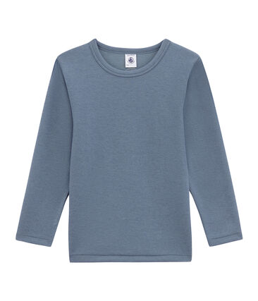 tee-shirta maniche lunghe per bambino blu Turquin