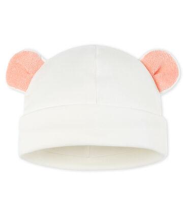 Cappellino bebè a costine bianco Marshmallow