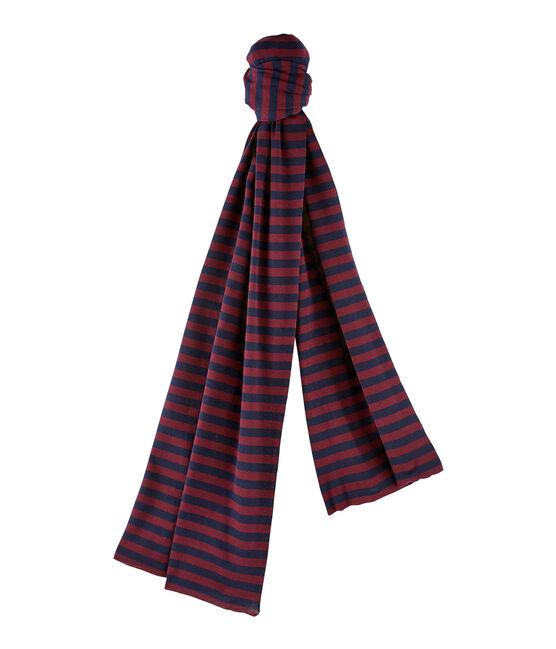 sciarpa rigata per donna blu Smoking / rosso Ogre