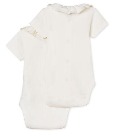 Confezione da 2 body manica corta con colletto bebè femmina