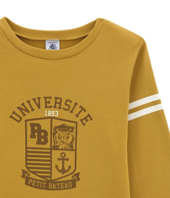 tee-shirtmaniche lunghe per bambino giallo Inca