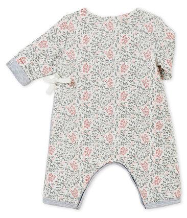 Tutina rivestita e stampata per bebé femmina bianco Marshmallow / bianco Multico