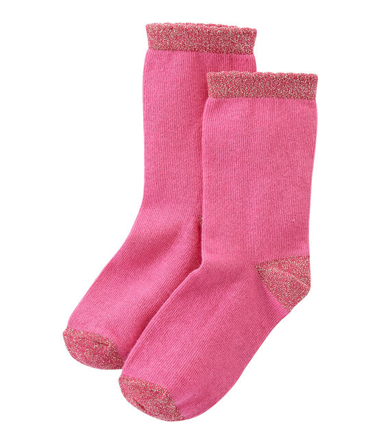 Calze bambina tinta unita rosa Petunia