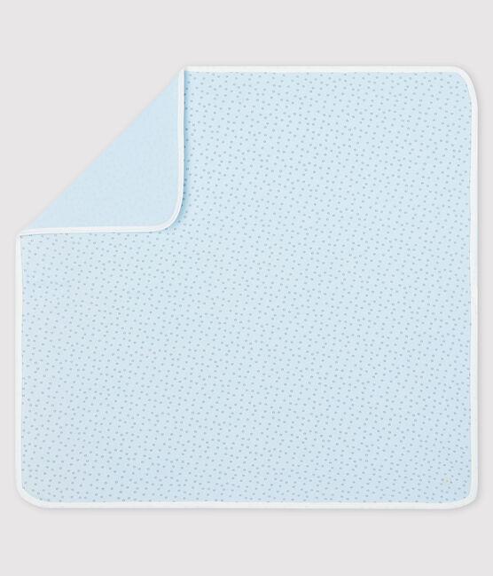 Copertina nascita bebè a costine blu Fraicheur / grigio Concrete