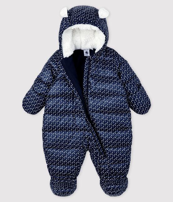 Tutina pilota bebè femmina/maschietto blu Smoking / bianco Marshmallow