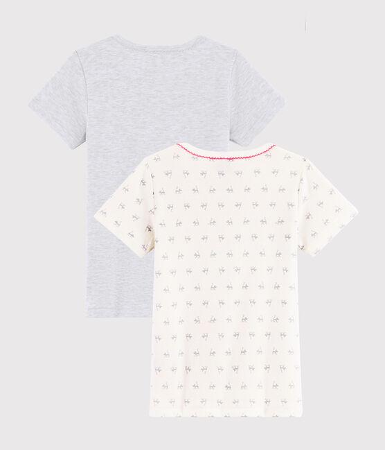 Confezione da 2 t-shirt manica corta fantasia gatto da bambina lotto .