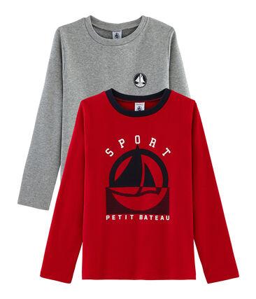 Confezione di 2 t-shirt bambino: serigrafata + a tinta unita. lotto .