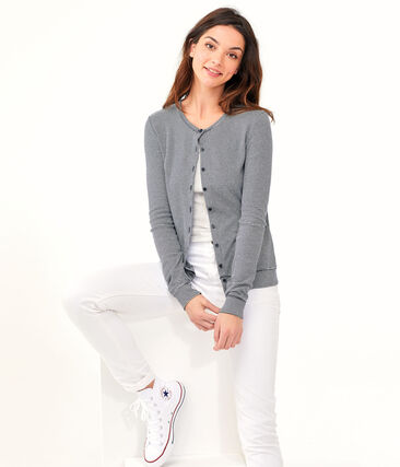 Cardigan donna blu Smoking / bianco Marshmallow
