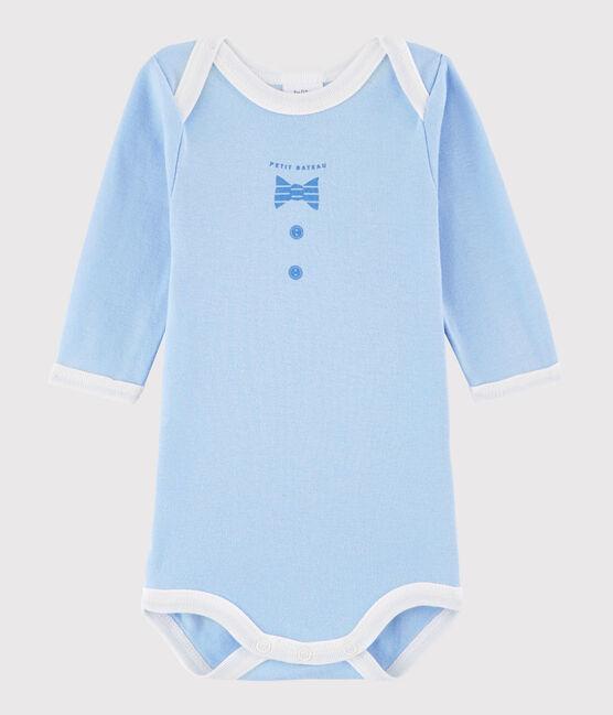 Body manica lunga bebè unisex blu Jasmin