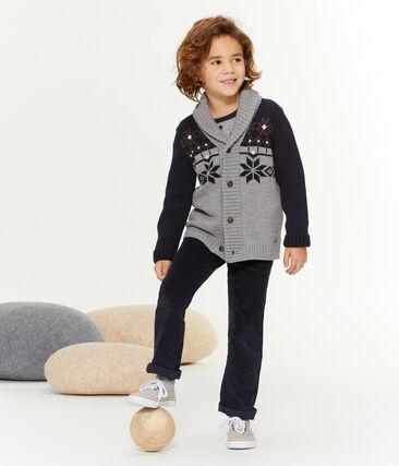 Cardigan tricot bambino grigio Subway / blu Smoking