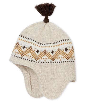 Cappellino in tricot jacquard bebé maschio