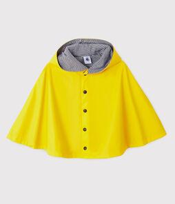 Mantellina da pioggia bebè unisex giallo Jaune