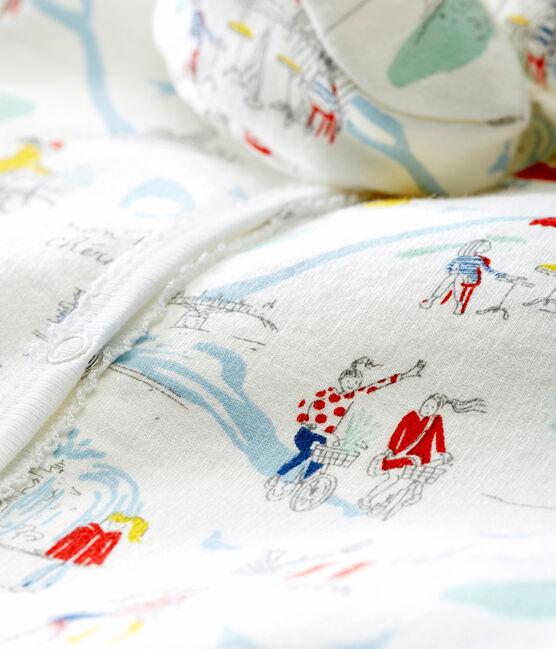 Coordinato pigiama e scarpine per bebé femmina bianco Marshmallow / bianco Multico