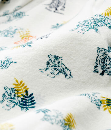 Felpa con cappuccio zippato neonato fantasia bianco Marshmallow / bianco Multico