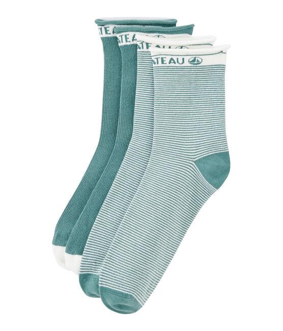 Set di 2 paia di calzini donna blu Brut