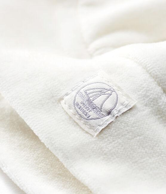 Cuffietta nascita bebè a costine bianco Marshmallow