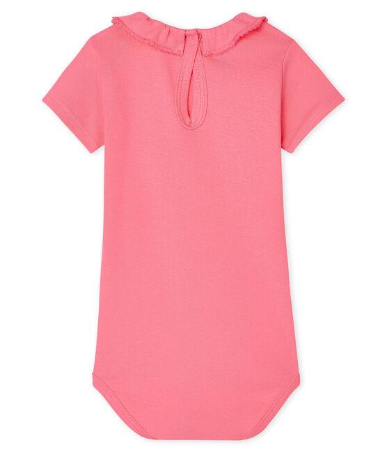 Body con colletto rotondo arricciato bebè femmina rosa Cupcake