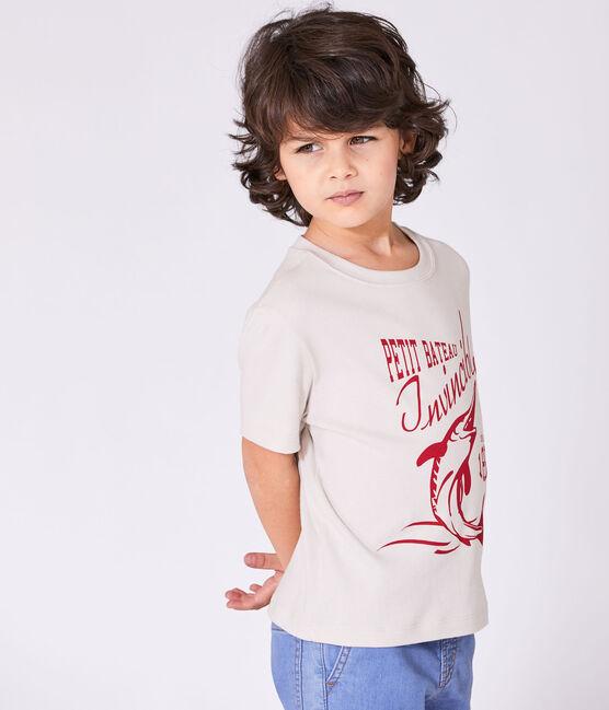 T-shirt bambino con motivo bianco Feta