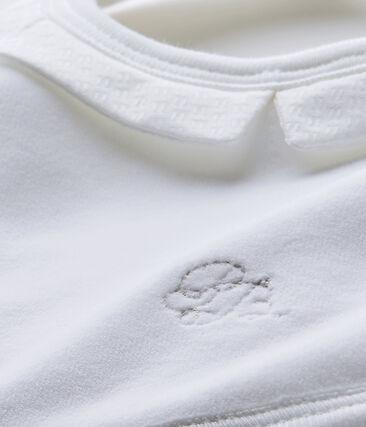 Bavaglino bebé unisex in cotone bianco Ecume