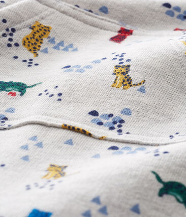 Tutina lunga da bebè maschio fantasia grigio Beluga / bianco Multico