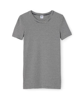T-shirt iconica donna blu Smoking / bianco Marshmallow