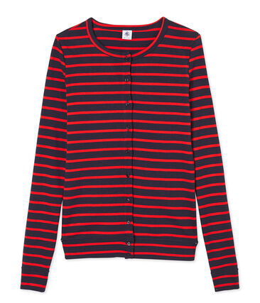 Cardigan donna iconico a righe