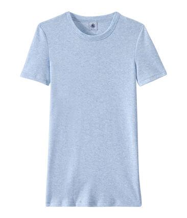 T-shirt donna in costina originale 1x1 blu Cumulus Chine