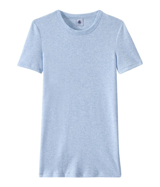 T-shirt donna in costina originale 1x1 blu Cumulus Chine