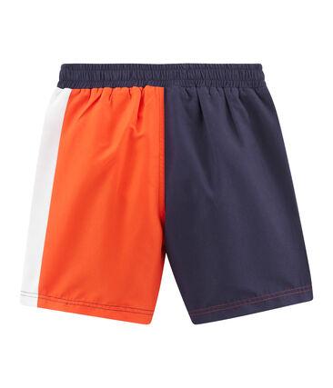 Short da spiaggia bambino blu Touareg / arancione Spicy