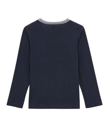 tee-shirta maniche lunghe bambino blu Smoking