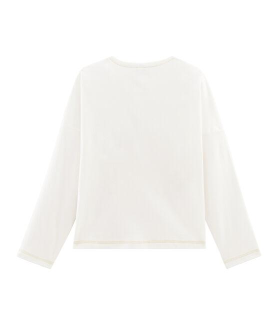 T-shirt serigrafata bambina bianco Marshmallow