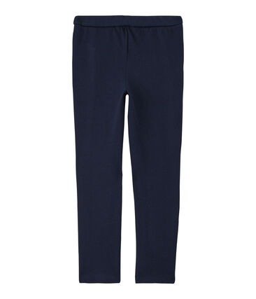 Pantalone in maglia bambina blu Smoking Cn