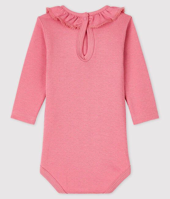Body manica lunga bebè femmina rosa Cheek / giallo Dore