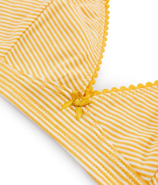 Reggiseno a triangolo donna giallo Boudor / bianco Marshmallow