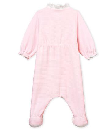 Bodyjama bebè femmina in velluto millerighe