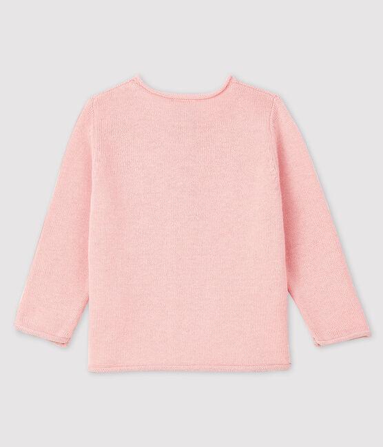 Cardigan a maniche lunghe bebè femmina rosa Minois
