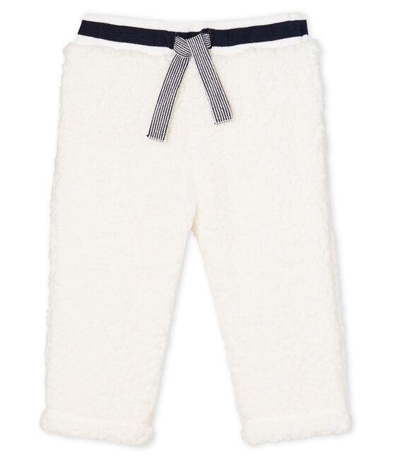 Pantaloni per neonati in lana sherpa bianco Marshmallow