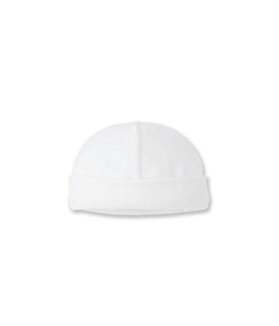 Cappellino nascita bianco Ecume
